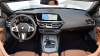 das BMW Z4 Model von 2018 von innen mit Blick auf das Lenkrad
