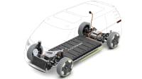 Skateboardbauweise eines Elektroautos