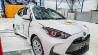 der Toyota Yaris beim Chrashtest