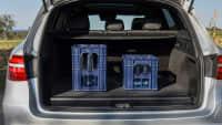 Kofferraum eines silbernen Mercedes GLC F-Cell