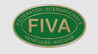 Das grüne ovale Logo der Fiva.org mit den Lettern FIVA und der Beschriftung Federation Internationale Vehicules Anciens