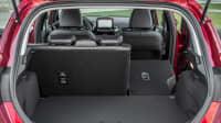 Kofferraum eines roten roter Ford Fiesta Titanium