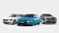 Eine Kollage aus Skoda, VW und Toyota