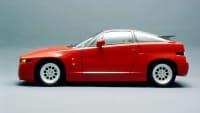 roter Alfa Romeo steht im Studio