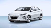 Studioaufnahme eines weißen Hyundai Ioniq Electric