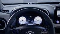 Anzeige und Lenkrad von einem Hyundai Kona Electric