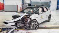 VW ID3 nach dem frontalen Crashtest