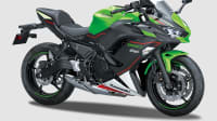 Kawasaki Ninja 650 als Freisteller von der Seite.
