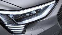 Die Scheinwerfer eines Audi E-Tron