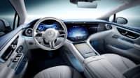 Das Cockpit des Mercedes EQE