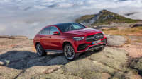 Mercedes GLE Coupé auf einem Berg