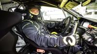Autor Thomas Geiger fährt den elektrischen Rallye Opel Corsa