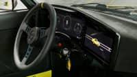 Seitlicher Blick auf das Cockpit des Opel Mantra mit Elektroantrieb