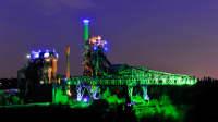 Lichtinstallation im Landschaftspark Duisburg-Nord