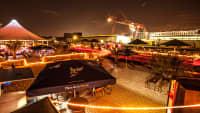 Eventschiff Herr Walter in Dortmund nachts