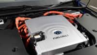 Die Zelle des Wasserstoffautos Toyota Mirai