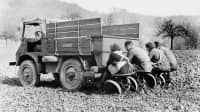 Historisches Bild eines Unimog