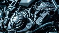 Der Motor einer Yamaha MT-07