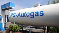 Eine LPG Autogastankstelle in Deutschland