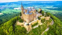 Luftaufnahme der Burg Hohenzollern