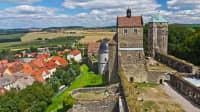 Außenansicht der Burg Stolpen