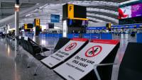 Leerer Flughafen in London Heathrow zur Coroan Zeit