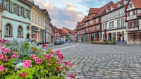 Straße in der Altstadt von Quedlinburg