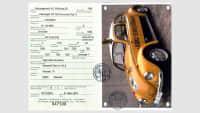 Eine Oldtimer Fiva-Id Card eines ADAC Straßenwacht Auto