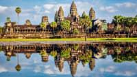 Blick auf den Ankor Wat Tempel in Kambotscha
