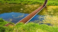 Mosesbrücke in Halsteren in den Niederlanden