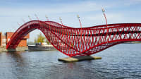 Python Brücke in Amsterdam