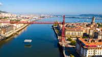 Vizcaya Brücke in Portugalete Spanien