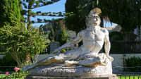 Statue von Achilles auf dem Gelände des Achilleion auf Korfu