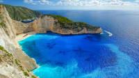 Strand von Zakynthos mit Schiffswrack