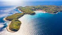 Luftaufnahme der Insel Susak in Kroatien