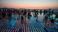 Tanzfläche Gruß in die Sonne in Zadar