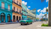 Ein Oltimer in Havanna  auf Kuba