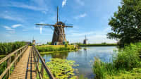 WIndmühlen Kinderdijk in Südholland