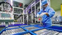 Herstellung einer Lithiumbatterie in einer Fabrik in China
