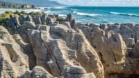 Blick auf die Pancake Rocks im Paparoa National Park
