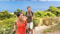 Paar wandert auf Mallorca