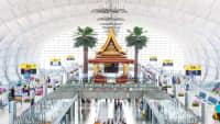 Der Flughafen Suvarnabhumi in Bangkok in Thailand