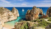 Landschaft an der Küste der Algarve
