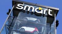 Smarts in einem Smartautohaus