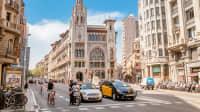 Straßenverkehr in Barcelona