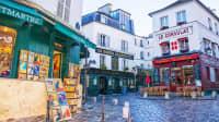 Gassen im Pariser Stadtteil Montmartre