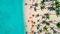 Luftbild des karibischen Resorts Bavaro in der Dominikanische Republik