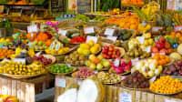 Exotische Früchte auf dem Viktualienmarkt in München