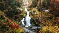Triberger Wasserfälle im Herbst