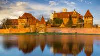 Teutonisches Schloss in Malbork in Pommern